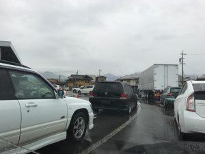 大渋滞の原因は・・・